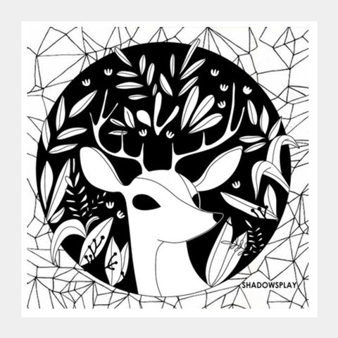 Where The Deer Are Square Art Prints | Artist : ShadowsPlay