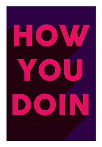 Awesome Joey How You Doing Typography Bold Art PosterGully Specials