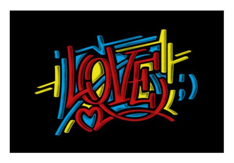 PosterGully Specials, love graffiti Wall Art | Artist : chetan adlak, - PosterGully