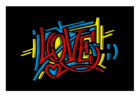 love graffiti Wall Art  | Artist : chetan adlak