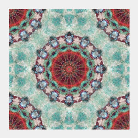 Square Art Prints, red kaleidoscope Square | Artist: harshad parab, - PosterGully