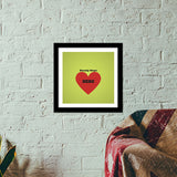 Beauty is in the Heart Premium Square Italian Wooden Frames | Artist : Pallavi Rawal