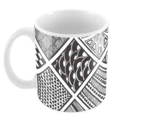Prints in Squares Coffee Mugs | Artist : Aniket Mitra