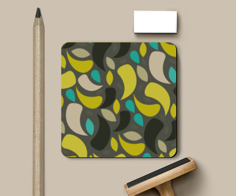 Seamless leaf geometric shapes Coasters | Artist : Designerchennai