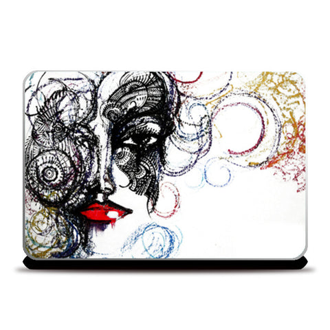 Laptop Skins, She Inked Laptop Skins | Artist : Strawberry Swing, - PosterGully