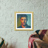 Premium Square Italian Wooden Frames, Dean Winchester Premium Square Italian Wooden Frames | Artist : Delusion, - PosterGully - 5