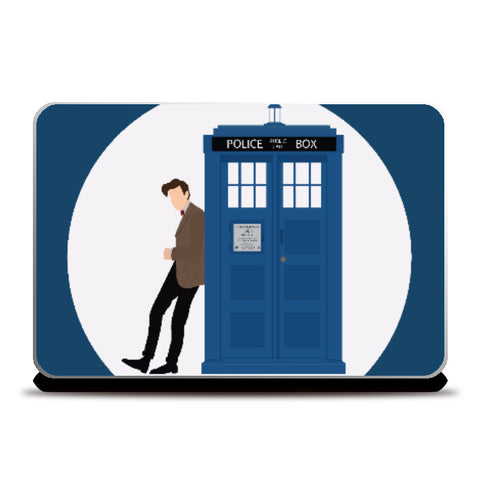 Laptop Skins, The Doctor and TARDIS | Artist: Mohak Gulati, - PosterGully
