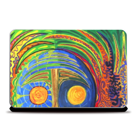 Laptop Skins, The Face of the श्रमण Laptop Skins | Artist : Luke's Art Voyage, - PosterGully