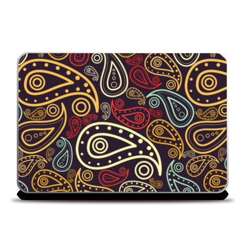 Abstract hand drawn floral illustration on multicolors Laptop Skins | Artist : Designerchennai
