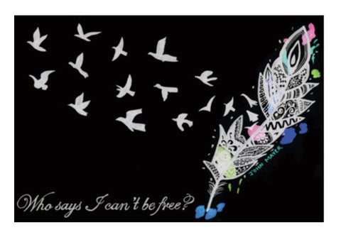 Wall Art, Who says I can't be free? Wall Art  | Artist : Gursimran Kaur, - PosterGully