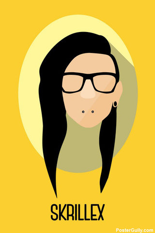 Wall Art, Skrillex Artwork | Artist Simran Anand, - PosterGully - 1