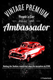 Wall Art, Ambassador Car Black Artwork | Artist: Devraj Baruah, - PosterGully - 1