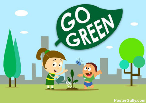 Brand New Designs, Go Green Artwork | Artist: Prashant Shikare, - PosterGully - 1