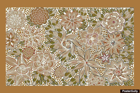 Brand New Designs, Flower Pattern Artwork | Artist: Dharini Mistry, - PosterGully - 1