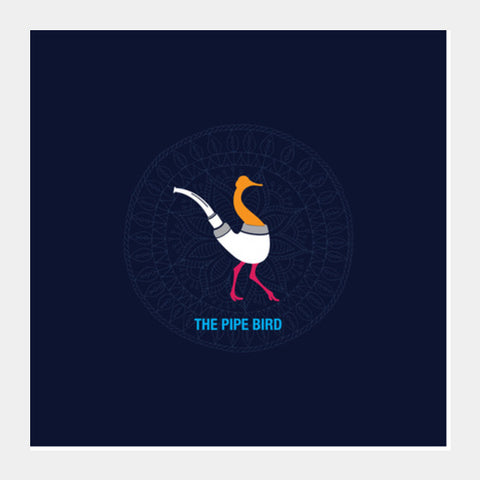 THE PIPE BIRD Square Art Prints | Artist : Satish Moladiya