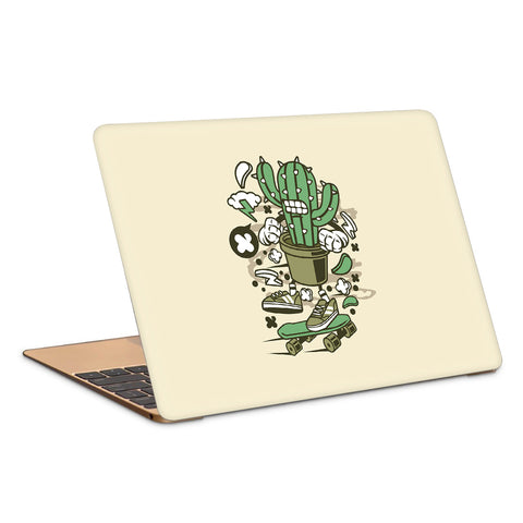 Cactus Angry Skater Artwork Laptop Skin