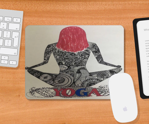 Yoga Mousepad | Artist : Quirky Designs by Priyanka Singhania