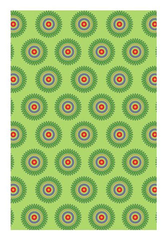 PosterGully Specials, Vintage abstract green with flowers Wall Art | Artist : Designerchennai, - PosterGully