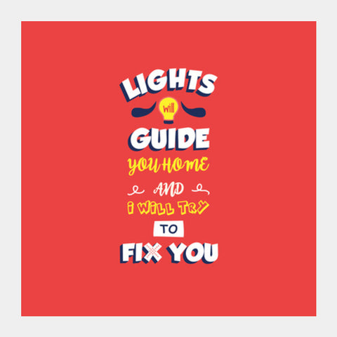 Coldplay Fix You Square Art Prints PosterGully Specials