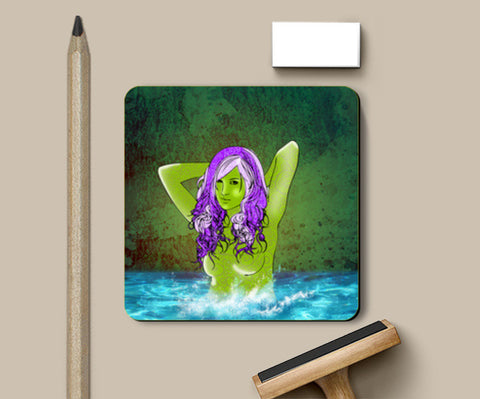 Pretty Green From Pool Coasters | Artist : Archana Aravind