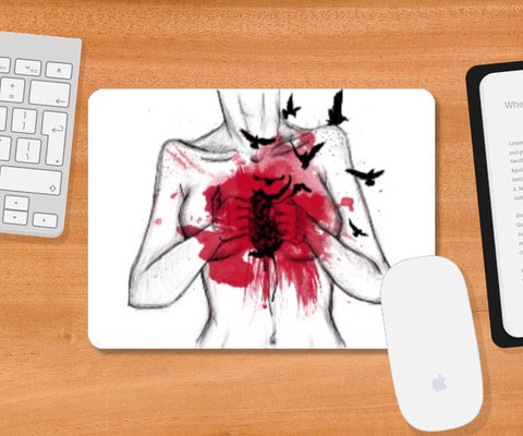 Mousepad, Heart Less mousepad | Artist: Anahat Kaur, - PosterGully