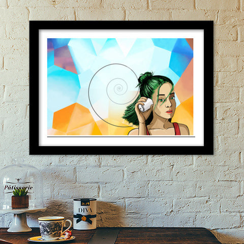 The sounds from the other side. Premium Italian Wooden Frames | Artist : devika art
