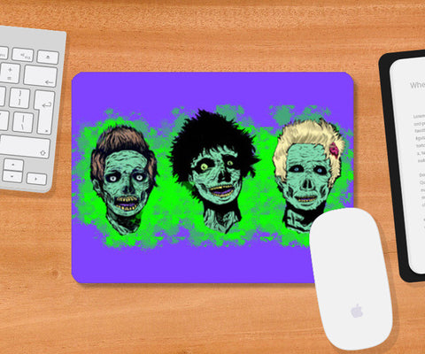 zombie greenday Mousepad | Artist : Scribbles