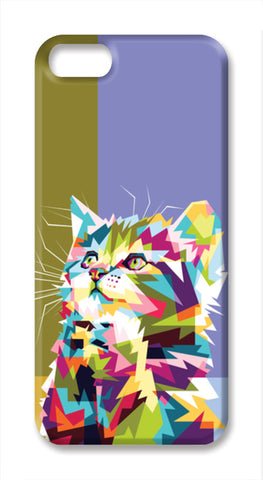 Colorfully Cat Hope iPhone SE Cases | Artist : Inderpreet Singh