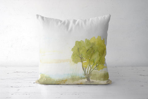 Lakeside tree cushion cover Cushion Covers | Artist : Manas Arvind