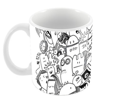 Monster Party Coffee Mugs | Artist : Paper Planes