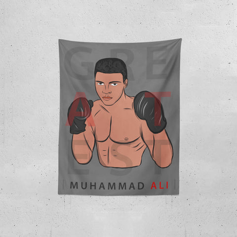 Greatest Ali Tapestries | Artist : Ayush Yaduv