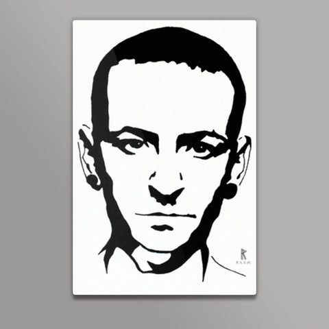 Chester Bennington Ink Metal Prints | Artist : Ajay Varma