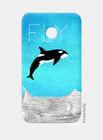 Moto E Cases, Fly Away Dear Whale Moto E Case | Artist: Parikshit Deshmukh, - PosterGully