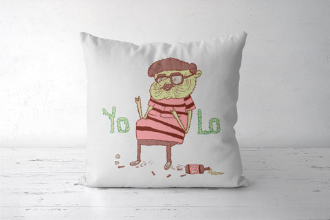 Yolo Cushion Cover | Artist : Aroop Mishra