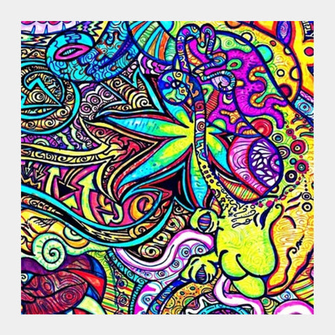 Trippy Square Art Prints | Artist : avanthi amarnath