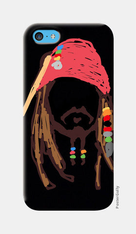 Jack Sparrow Pirates Of The Caribbean Minimal Doodle iPhone 5c Cases | Artist : Praband