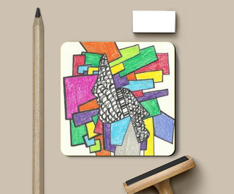 Coasters, Colour faces abstract Coasters | Artist : Meanderings, - PosterGully