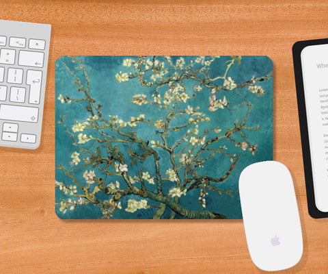 Blossoming Almond Tree by Vincent Van Gogh  Mousepad | Artist : GABAMBO