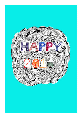Happy 2016 Wall Art | Artist : Amulya Jayapal