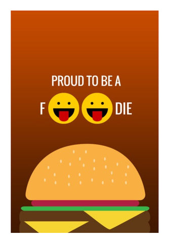 Wall Art, Proud to be a foodie |  Wall Art | Artist : Nikhil Wad, - PosterGully