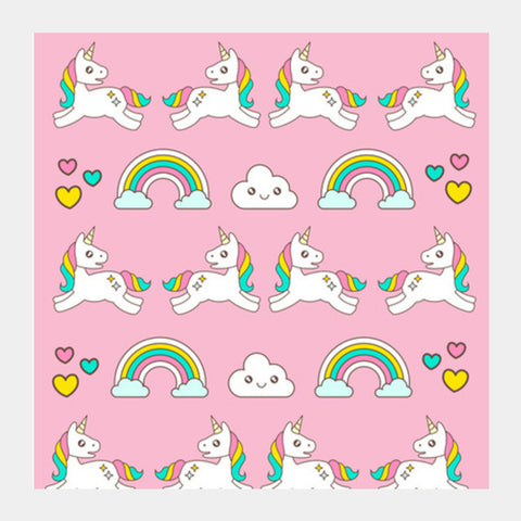 Unicorn Magical World Square Art Prints | Artist : Colour me expressive