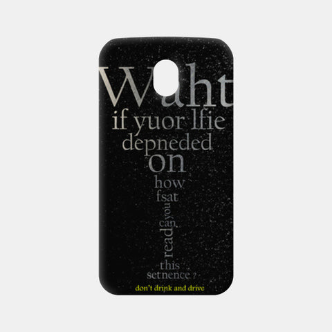Moto G3 Cases, don't drink and drive Moto G3 Cases | Artist : Tanmay Santra, - PosterGully