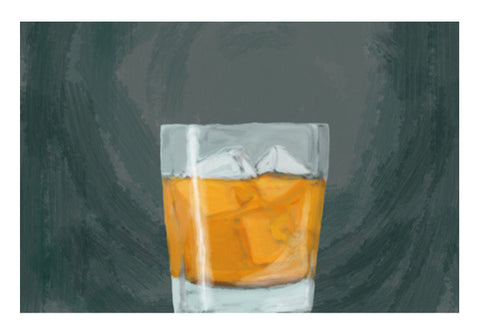 single malt on the rocks Wall Art  | Artist : Keshava Shukla