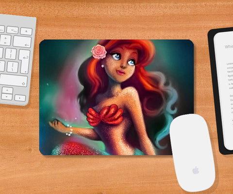 Mousepad, Mermaid princess ariel Mousepad | Artist : Neha Majumdar, - PosterGully