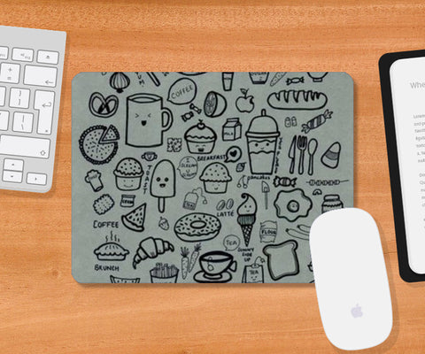 foodaholic Mousepad | Artist : The Doodler dentist