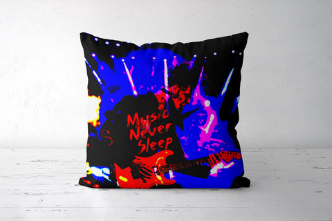 Music Never Sleep Cushion Cover | Artist: Boys Theory