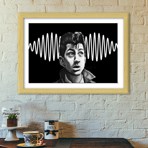 Alex Turner from Arctic Monkeys Premium Italian Wooden Frames | Artist : Aninya Gangal