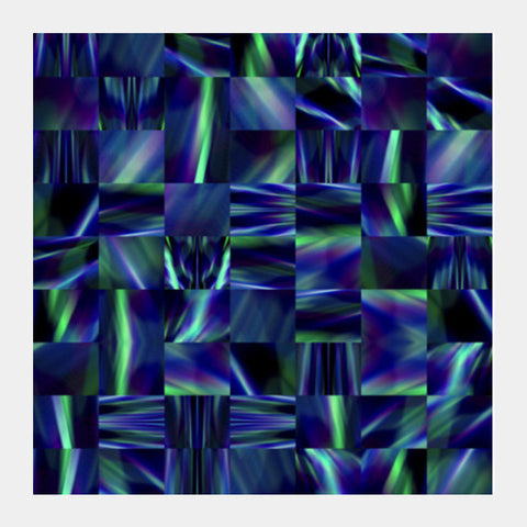 Blue Blend Square Art Prints | Artist : Hemant Kumar Gandhi