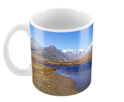 Rohtang Mountains and Lake Coffee Mugs | Artist : Hansika Sachdeva
