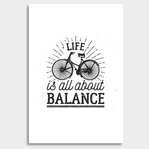 Life Is All About Balance Giant Poster | Artist : Inderpreet Singh